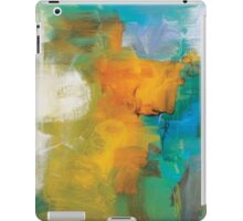 Abstract Orange Blue Print from Original Painting  iPad Case/Skin