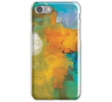 Abstract Orange Blue Print from Original Painting  iPhone Case/Skin