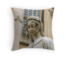 Outside Bath Abbey Throw Pillow