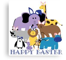 Happy Easter at the Zoo Canvas Print
