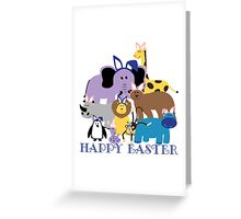Happy Easter at the Zoo Greeting Card