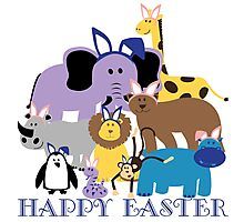 Happy Easter at the Zoo Photographic Print