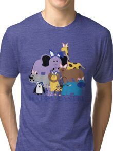 Happy Easter at the Zoo Tri-blend T-Shirt
