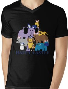 Happy Easter at the Zoo Mens V-Neck T-Shirt