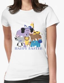 Happy Easter at the Zoo Womens Fitted T-Shirt