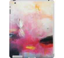Pink White Print Abstract Painting iPad Case/Skin