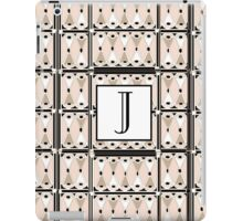 1920s Pink Champagne Gatsby Monogram letter J iPad Case/Skin