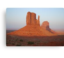 At Sunset  Monument Valley Canvas Print