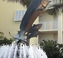 Sailfish Fountain by Donna Adamski