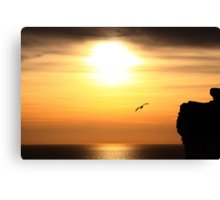 Sunset at Birling Gap Canvas Print