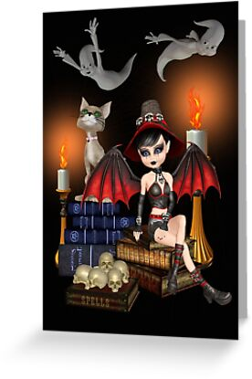The Demon Witch, The Cat and The Ghosts by LoneAngel