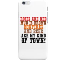ROSES ARE RED MUD IS BROWN iPhone Case/Skin