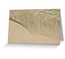 Beach Ripple Greeting Card