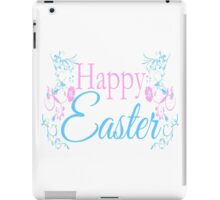 Happy Easter Flowers Design iPad Case/Skin