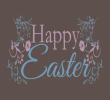Happy Easter Flowers Design Baby Tee