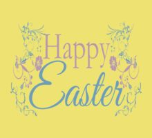 Happy Easter Flowers Design Kids Clothes