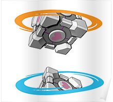 Companion Cube Portal Poster