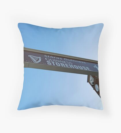 Sign to the St. James's Gate Brewery Throw Pillow