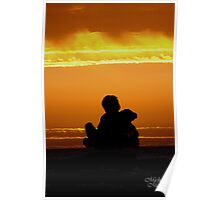Sunset with a friend Poster
