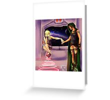 Oooh--Shiny!  I want it! Greeting Card