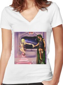 Oooh--Shiny!  I want it! Women's Fitted V-Neck T-Shirt