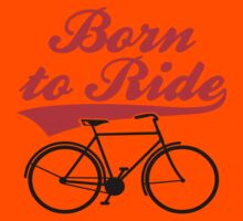 Born To Ride Bike Design Kids Tee