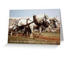 HORSE DRAFT AT GOSHEN FAIR (CARD) Greeting Card