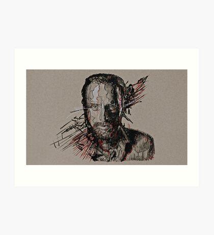 Rick Grimes The Walking Dead Art Print