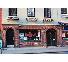 Stonewall Inn. Greenwich Village. Photographic Print