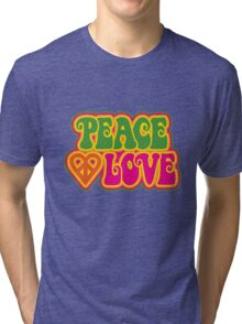 Peace and Love Tri-blend T-Shirt