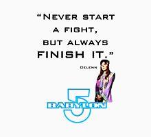 Babylon 5 - Never start a fight (for light backgrounds) Men's Baseball ¾ T-Shirt