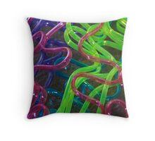 Crazy Straws Throw Pillow
