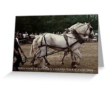 HORSE DRAFT, GOSHEN CONNECTICUT, 1964 (CARD) Greeting Card