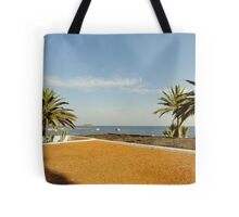 Ibiza palm sea view Tote Bag