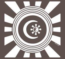 Mandala 34 Version 2 Yin-Yang Simply White  by sekodesigns