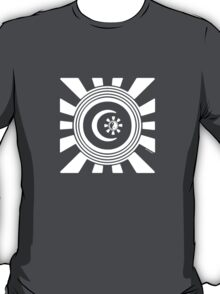 Mandala 34 Version 2 Yin-Yang Simply White  T-Shirt