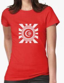 Mandala 34 Version 2 Yin-Yang Simply White  Womens Fitted T-Shirt