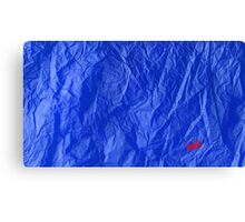 Creased Paper Blue Canvas Print