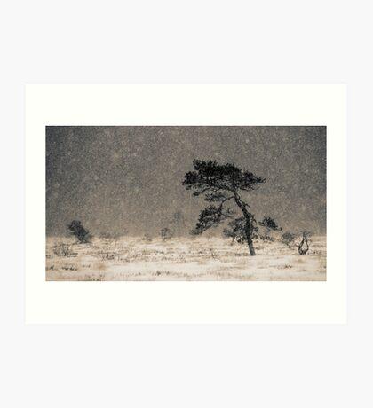 'Under the Snowstorm I' Art Print