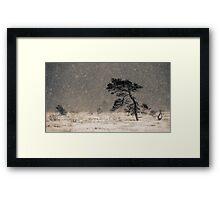 'Under the Snowstorm I' Framed Print