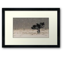 'Under the Snowstorm II' Framed Print