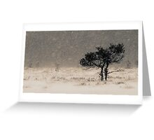 'Under the Snowstorm II' Greeting Card