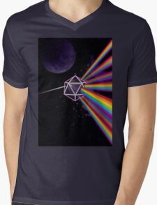 Pink Floyd Dark Side of the Moon Dungeons & Dragons Mens V-Neck T-Shirt