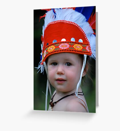 One little, two little, three little indians Greeting Card