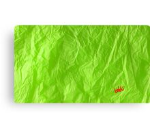 Creased Paper Green Canvas Print