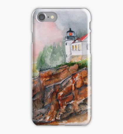 BASS HARBOR LIGHT -  Acadia National Park, Maine iPhone Case/Skin