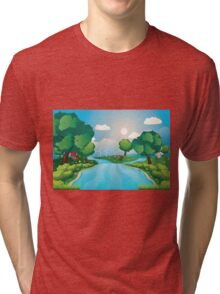 Hills and River 2 Tri-blend T-Shirt
