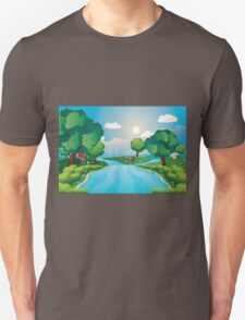 Hills and River 2 Unisex T-Shirt
