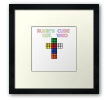 Rubik's Cube Est. 1980 Framed Print