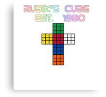 Rubik's Cube Est. 1980 Canvas Print